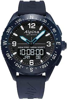 BASHERRY - Caja de acero de 45 mm alpina Alpinerx la goma del reloj de cuarzo Al283Lbn5Naq6 para