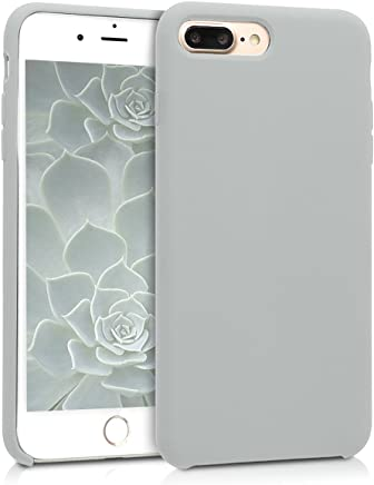 kwmobile [TPU Silicone] Case for Apple iPhone 7 Plus / 8 Plus - Soft Flexible [Rubber] Protective Cover - Light Grey Matte