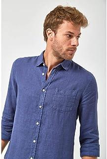 Camisa Linho 100% - Marinho