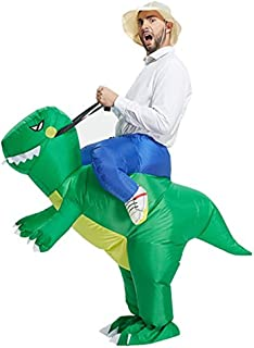 Meiyiu Funny Inflatable Cosplay Dinosaur Costume Toy Dinosaur Jumpsuit Clothing Halloween Parents-Child Campaign Costumes ...