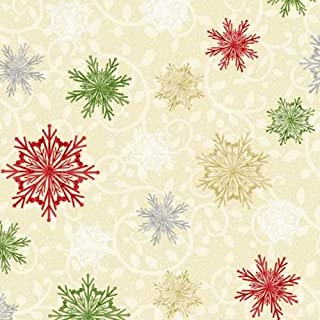 Studio E 4218-44 Winter Greetings Snowflakes Cream Quilting Fabric by Yard