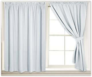 RYB HOME Portable Theater Curtain Panels Set Home Decor Adjustable Width Blinds Set Privacy Protect Room Darkening for No ...