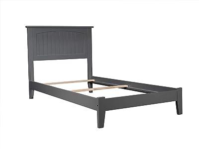 Atlantic Furniture AR8221039 Nantucket Traditional Bed, Twin, Grey, Atlantic