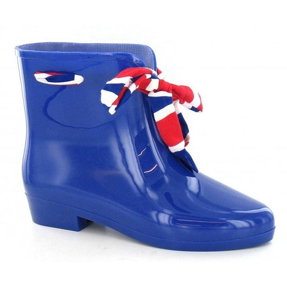 銀行広がり結婚した(スポットオン) Spot On レディース ボウ付き アンクル丈 ウェリントンブーツ 婦人長靴 レインブーツ 女性用