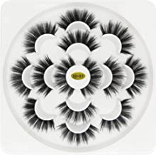 3D false eyelashes 7 Pairs Lotus plate extensions dramatic long lashes with volume for women's makeup handmade soft 5D fake eyelash(07)