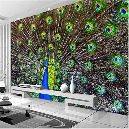 Dalxsh Hd Pauw Open Scherm Photo Tv Office Achtergrond Muurschildering 3D Wallpaper Home Decoratieve Wallpaper voor Muren 3D 280 x 200 cm.