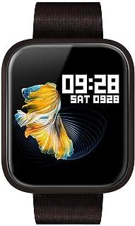 Zomeber Rastreador de Ejercicios Relojes Inteligentes P70 1.3 Pulgadas de Pantalla IPS Color SmartWatch IP68 a Prueba de Agua, Metal Correa de Reloj (Negro)
