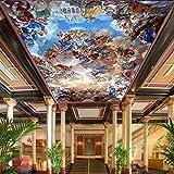 NXMRN Wallpaper Tapete Plakat Poster Fototapete Große 3D Deckengemälde Hotel Lobby Wohnzimmer Dekor Engel Foto Deckengemälde 350cmx250cm