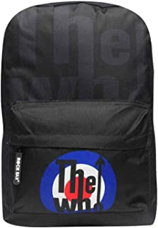 The Who Backpack Bag Classic MOD Target distressed Band Logo Official Black One Size