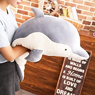 Levenkeness Dolphin Plush Hugging Pillow, Soft Large Dolphins Stuffed Animal Toy Doll Gifts for Kids, Valentine, Christmas...