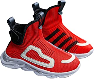 Hopscotch Boys Mesh Vertical Straps Ankle Boots in Red Color