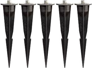 Erdspiess Universal Einschlagh/ülse mit Kabeldurchf/ührung 30cm lang 10