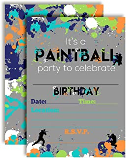 paintball birthday party supplies