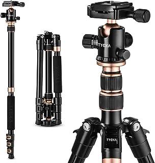 tycka カメラ用三脚 軽量 コンパクト 自由雲台 4段 1400mm 10kg耐荷重 アルミ製 ボールヘッド クイックシュー式 レバーロック 三脚ケース付き デジタルカメラ 一眼レフ 用 運動会 登山 トラベル用 TK118