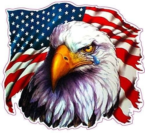 American Flag Eagle Crying Sticker for Car Decal Truck Window Laptop Auto Vinyl Motorcycle Helmet