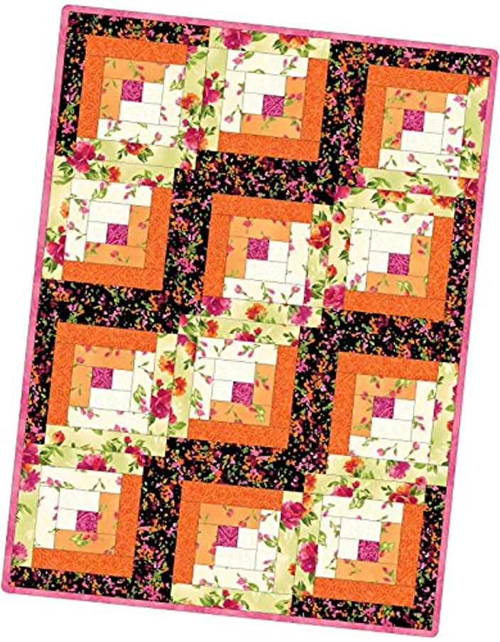 Paradise Log Cabin Pod Quilt Kit Maywood Studio