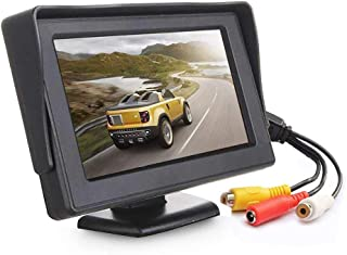COODIO 4.3 Inch TFT LCD Monitor Car Rearview Full Color Display 2-channels Video Inputs Visual Reversing for Car VCD/DVD/GPS/Camera Electronic