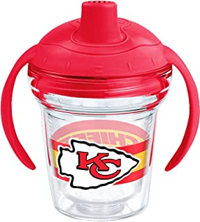 Tervis 1259921 NFL Kansas City Chiefs Sippy Cup with Lid, 6 oz, Clear