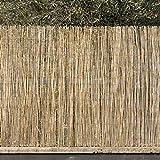 Arella arelle frangivista bambù 1x3 mt rilegate con filo metallico passante