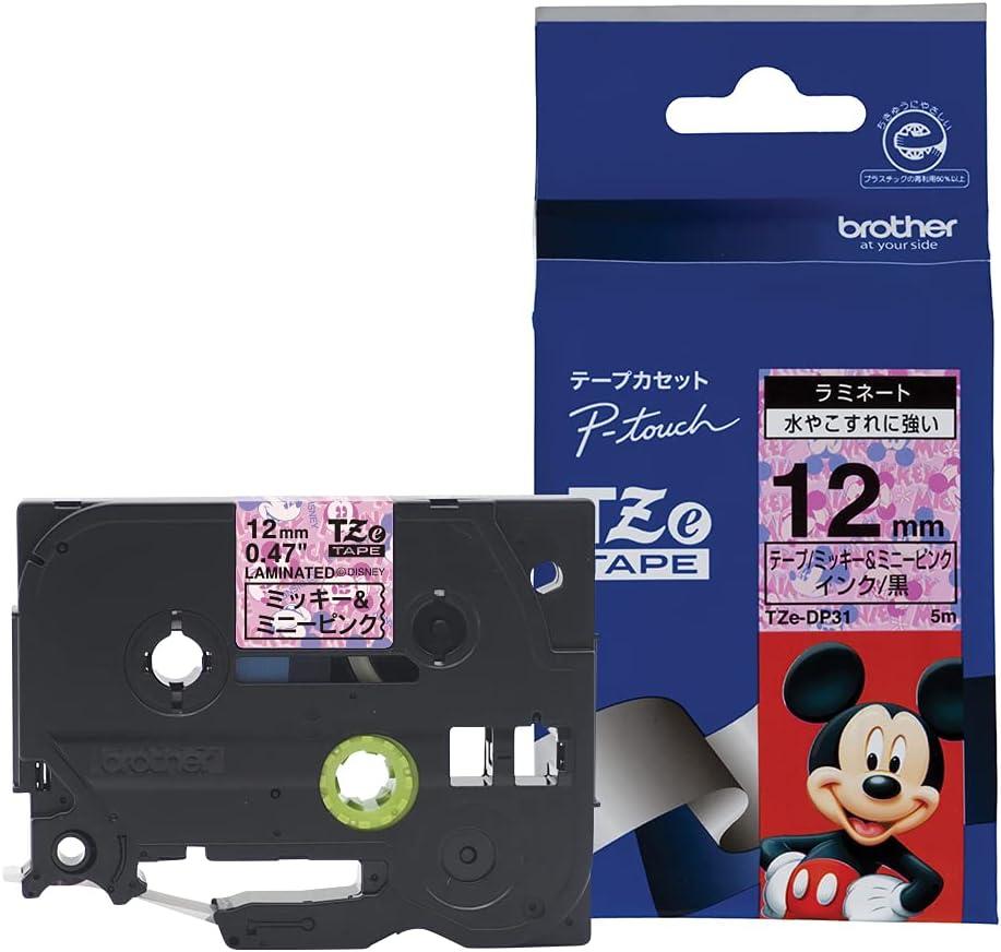 Brother Max 71% OFF TZe tape Disney Mickey 12mm Minnie pink black New York Mall