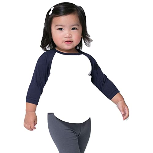 b2a43081 American Apparel Infant Poly-Cotton 3/4 Sleeve Raglan