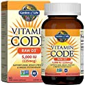 60-Count Garden of Life 5,000 IU, Raw Whole Food Vitamin D Supplements