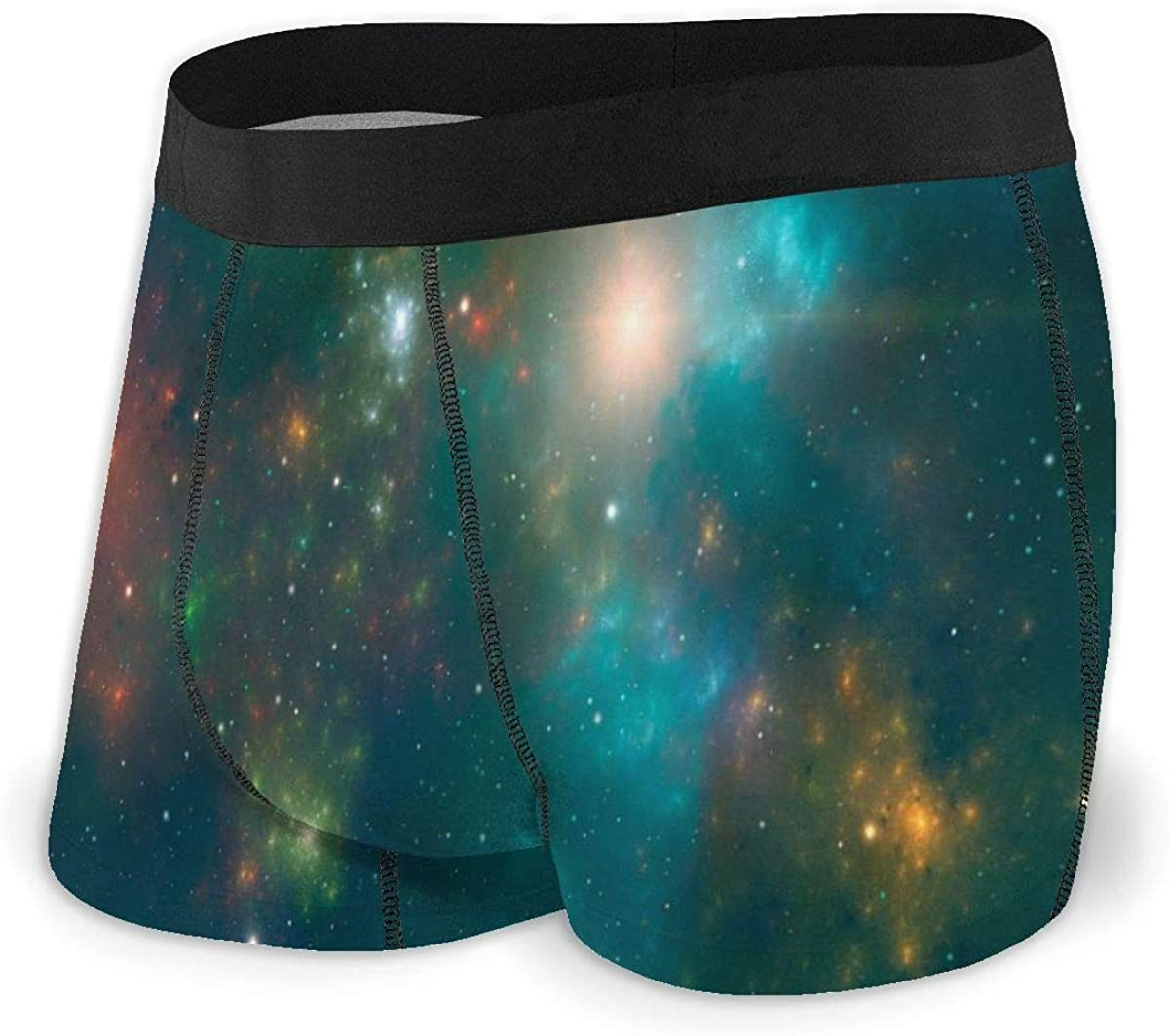 Mens Boxer Briefs Beautiful Galaxy Gas Nebula Space Breathable Underwear