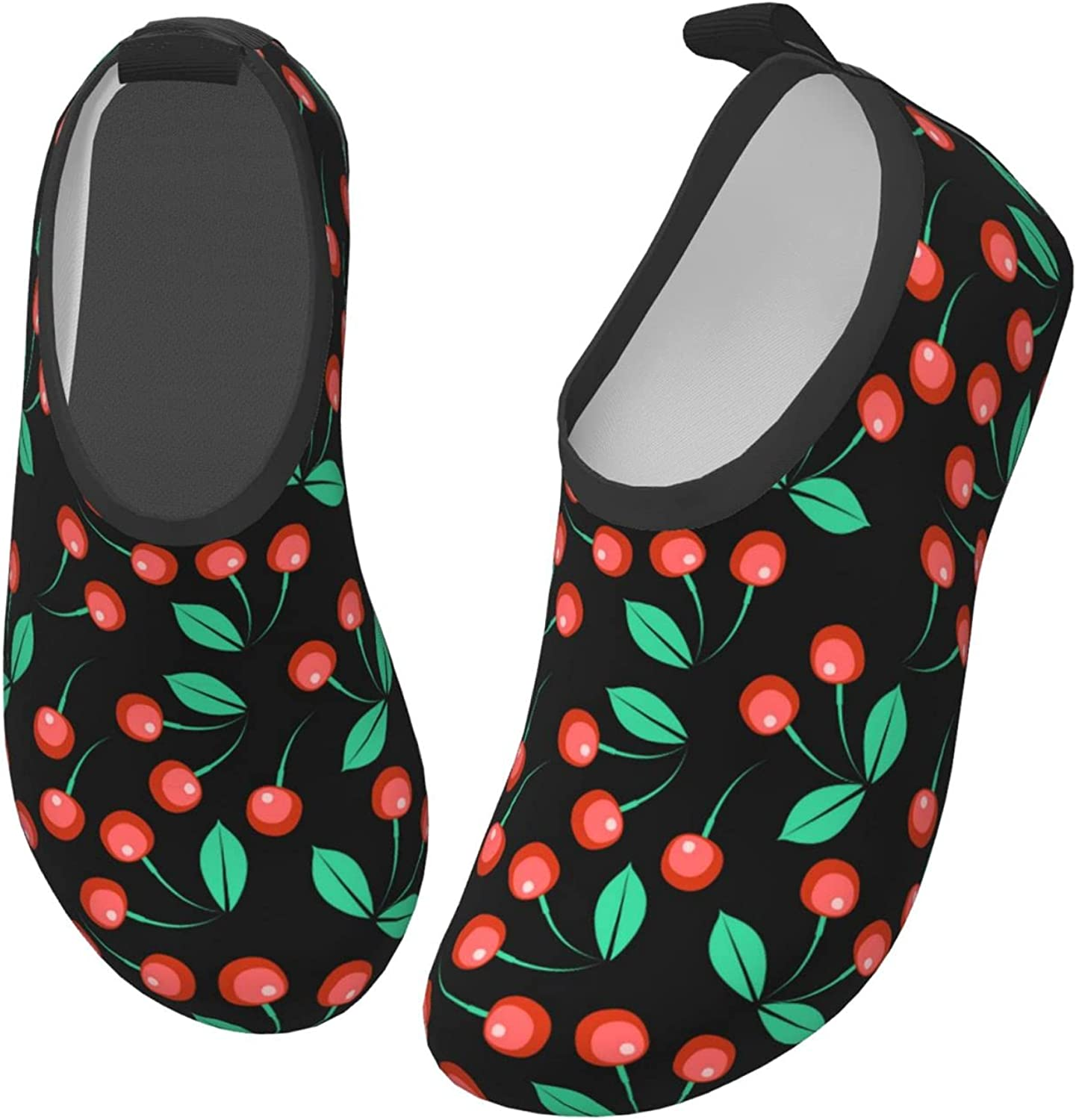 Jedenkuku Cherry Cute Fruit Children's Water Shoes Feel Barefoot for Swimming Beach Boating Surfing Yoga
