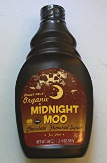 3 Pack Trader Joe's Organic Midnight Moo Chocolate Flavored Syrup