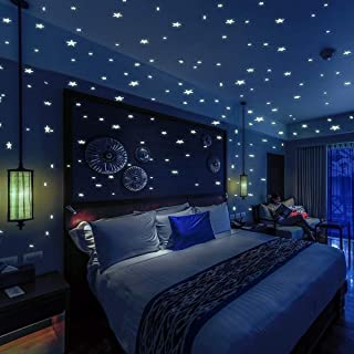 Bollepo Glow in The Dark Stars and Dots 332 3D Wall Stickers for Kids Bedroom and Room Ceiling Gift Beautiful Glowing Wall Decals