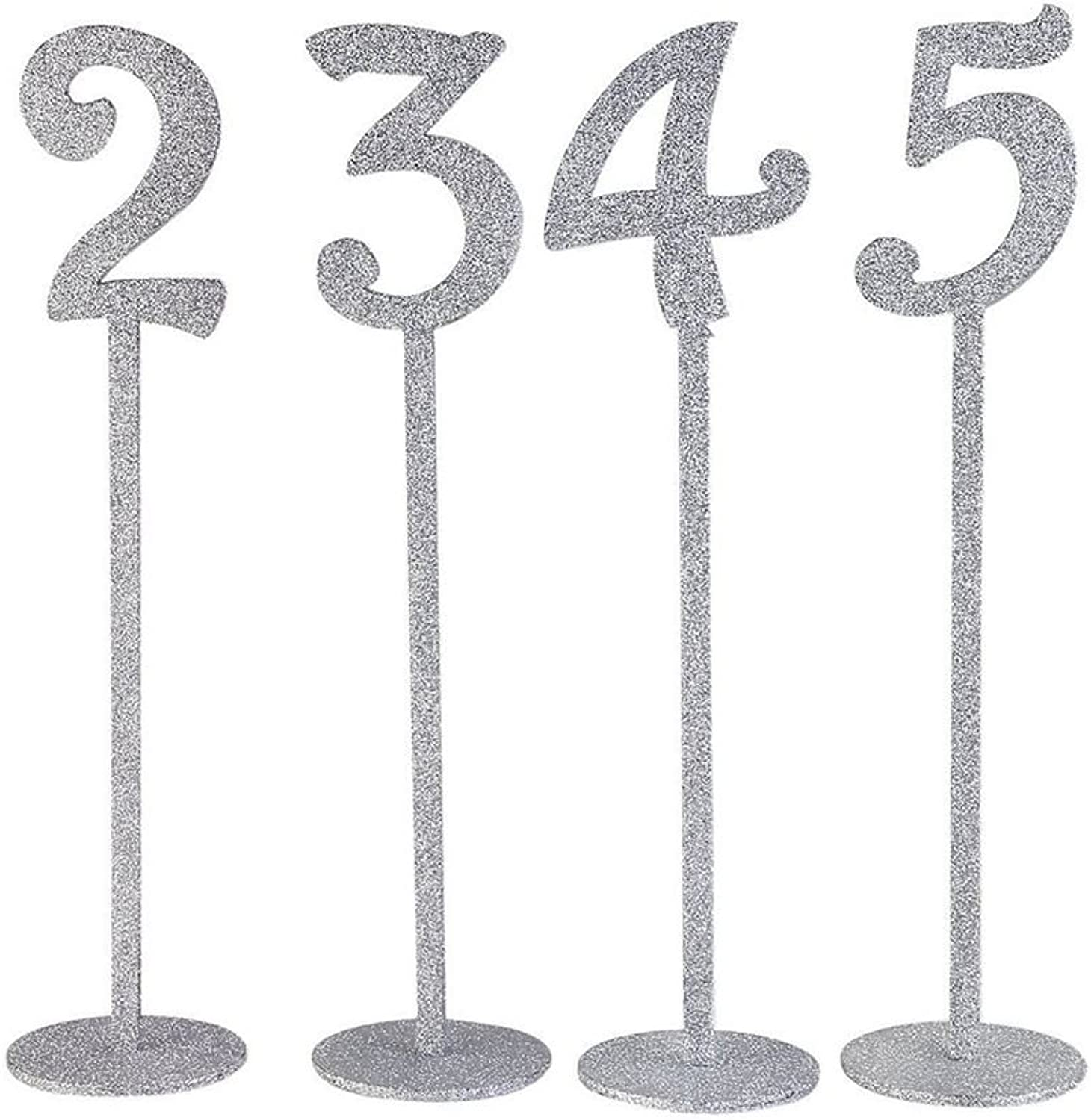 Holder Wood  Wedding Table Numbers Holders Thicken Wood with Glitter Silver  T Bird First Glitter Invitations Book Bookmark Wood Bookmark Decor Marker Sticker Pubg Scarf Book of Number Page D