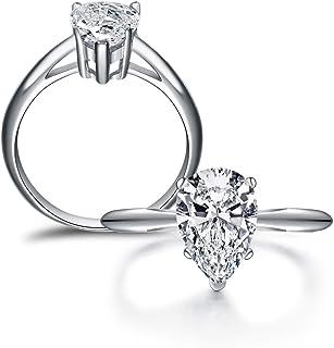 خواتم الخطوبة للنساء، 2 قيراط مويسانيت الفضة الاسترليني خاتم الزفاف خاتم الزواج خواتم لها، زوجين، الذكرى السنوية