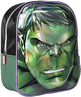 Mochila Infantil 3D Avengers Hulk, Verde, 31 cm (2100002612)
