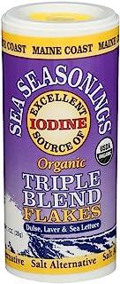 Triple Flakes Blend Sea-Seasoning Shaker | Dulse, Laver, and Sea Lettuce | 1 oz tube | Organic Seaweed Seasoning | Maine C...