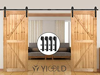 10ft Hardware Kit for Sliding Barn Door Factory Outlet Carbon Steel-Ultra Smoothly and Quietly Design-Includes Step by Step Installation Instruction Fit 36