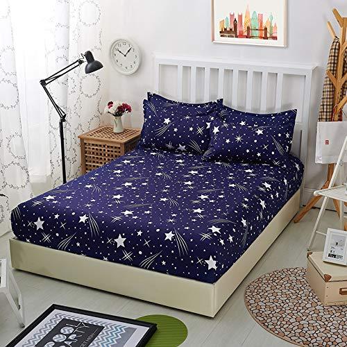 haiba Protector de colchón impermeable transpirable con correas de esquina, colcha de 180 x 220 cm