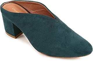 Chumbak Blooming Whispers Dark Teal Heels - 39