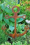 Bornhöft Gartenstecker Anker Metall Rost Gartendeko Edelrost Groß rostig (45cm x 37cm klein)