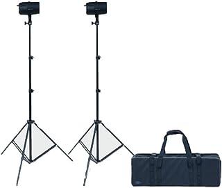 Dorr Ecoline dsu-150W Kit de Flash de Estudio con 2x Cabezales/Stands–Negro