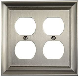 CKP Brand #31194 Double Duplex Wall Plate, Brushed Nickel