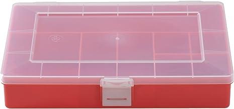 Hünersdorff assortimentsdoos: stabiele sorteerbox (PS) transparant of gekleurd. 8 8, rood.