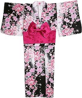 Aliciga 花柄 和式 プリント 着物 和服 6点セット 日本式 ふわふわな彼女 羽織り レディース 女性 お仕立て上がり 洗える着物 浴衣 婦人用 デート 夏祭り 花火大会 文化祭