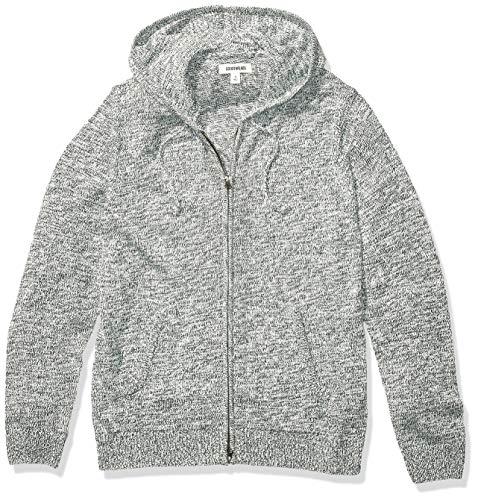 Amazon Brand - Goodthreads Men's Supersoft Marled Fullzip Hoodie Sweater, Pine Green X-Small