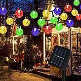 Guirnaldas Luces Exterior Solar, Mture Cadena de Luces 60 LED Bola, 8 Modos de Luz y IP65 Impermeable, 11 M Luz Navidad para Decoración, Hogar, Jardín, Arboles, Patio, Bodas, Fiesta