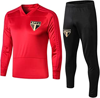 Men's Soccer Jersey Suits, Sao Paulo Futebol Clube Sweatshirt, St. Paul's Long Sleeve Tracksuits, Adult Soccer Sportswear Training Suit