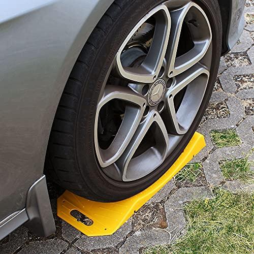 Protector de neumáticos cuña anti deformación 495 x 205 x 62 mm para caravanes y coches deportivos