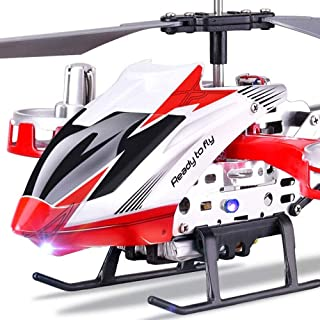 Ycco RC Helicopter 4.5 Channels with Crash Resistance and Gyro Remote Control Drone Infoor Outdoor for Kids Adult Indoor Hobby Mini Flying Blades Replace Included Plane Toy ( Color : Red )