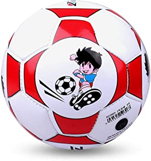 nbvmngjhjlkjlUK Cuero de PU Pelota de fútbol Entrenamiento Fútbol Interior al Aire Libre con Aguja Neta Gratis para niños Estudiantes (Rojo)