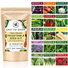 Vegetable Seeds for Planting, 15 Heirloom Seed Varieties Included in This Grow Your Own Veg Seeds Variety Pack, Ideal Gardening Gifts for Men and Women