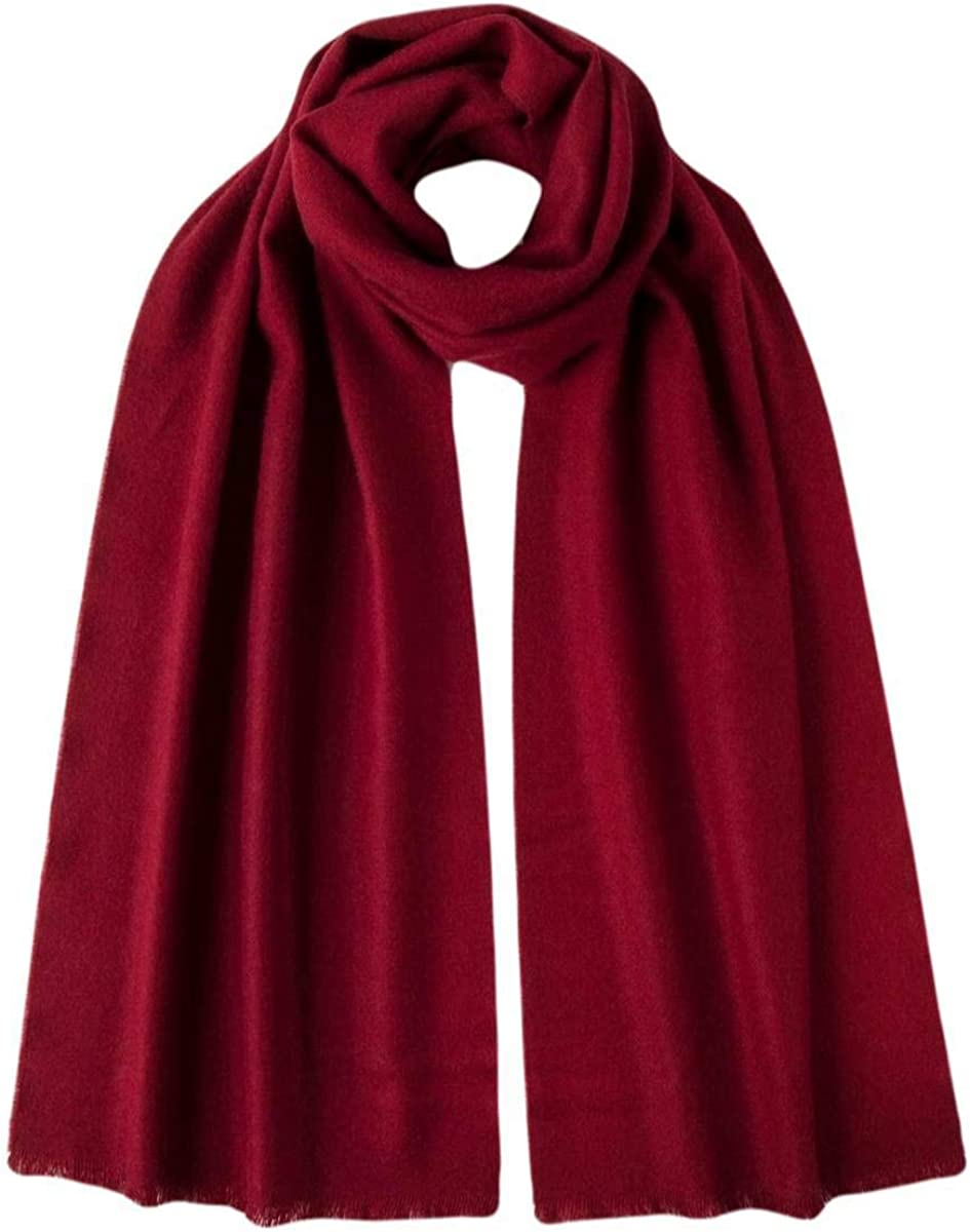 Johnstons of Elgin Fashionable Unisex Extra Fine Merlot Wool Merino Limited time trial price Scarf -